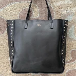 ‼️SOLD‼️Vince Camuto black studded leather tote